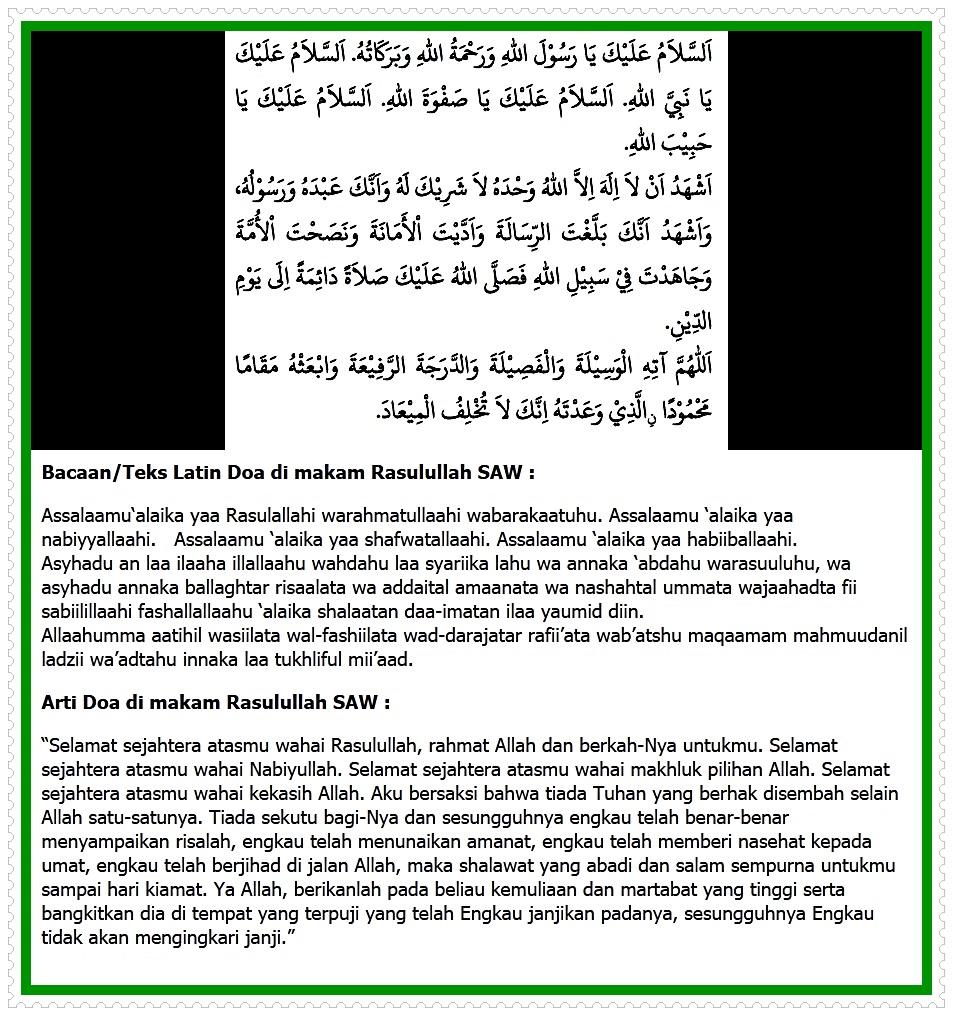 Image Doa Salam Ketika Berada Di Makam Rasulullah Saw
