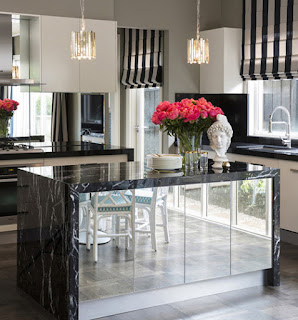 Black Marquina Marble Kitchen Countertops