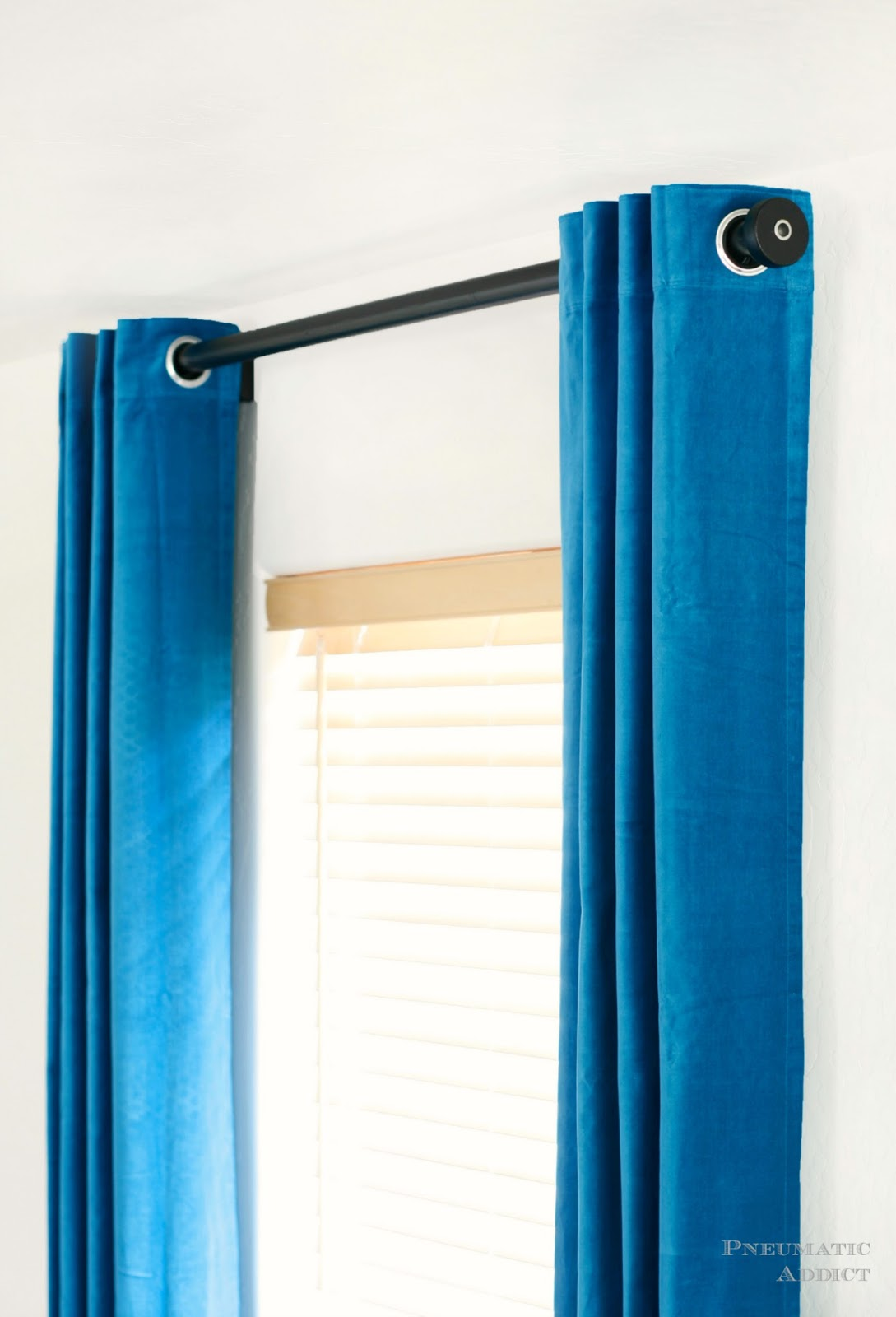 Pneumatic Addict Modern Curtain Rod And Finial Tutorial