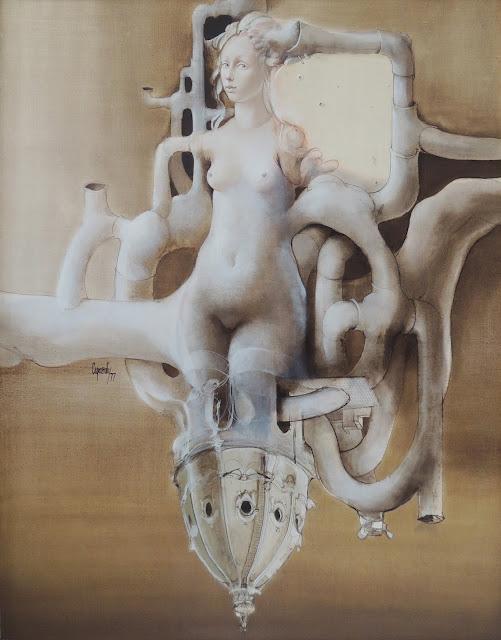 Glauco Capozzoli pintura desnudo