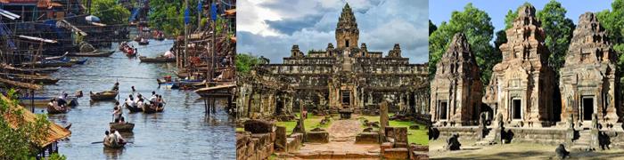 Tonlé Sap (village flottant) - Bakong - Preah Ko