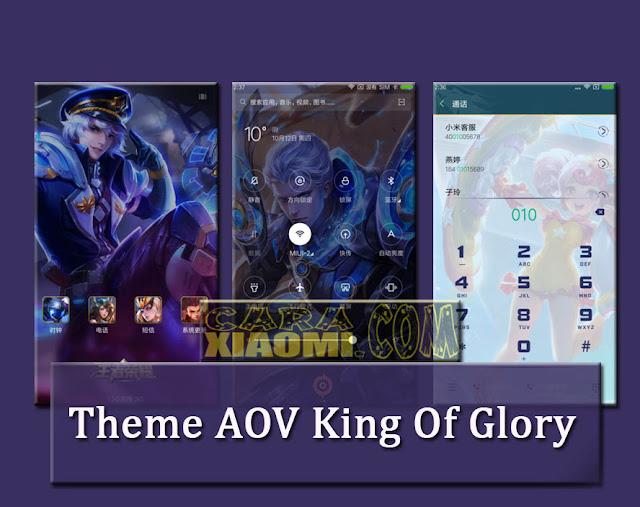 Screenshoot Theme MIUI King of Glory AOV Cina Mtz For Xiaomi Terbaru