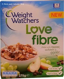 Weight Watchers breakfast cereal wheat rice sultana raisin apple flakes