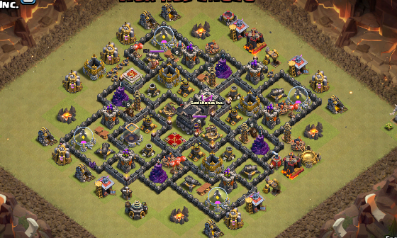 Base War TH 9 Terkuat Ketiga