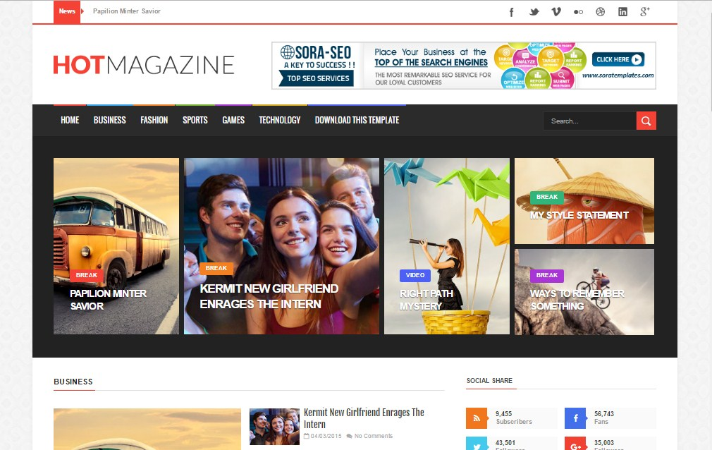 Top 10 Magazine Style Blogger Templates 2017 Devil Coded