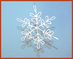 copo de nieve, snowflake, manualidades, cuerda, Navidad