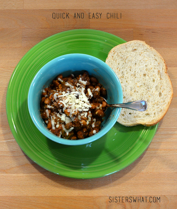 Easy and Quick Chili, a delicious base for a comforting chili, add your favorite meat or enjoy it vegetarian!