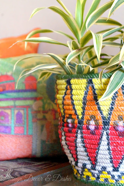 African Basket Inspired Planter