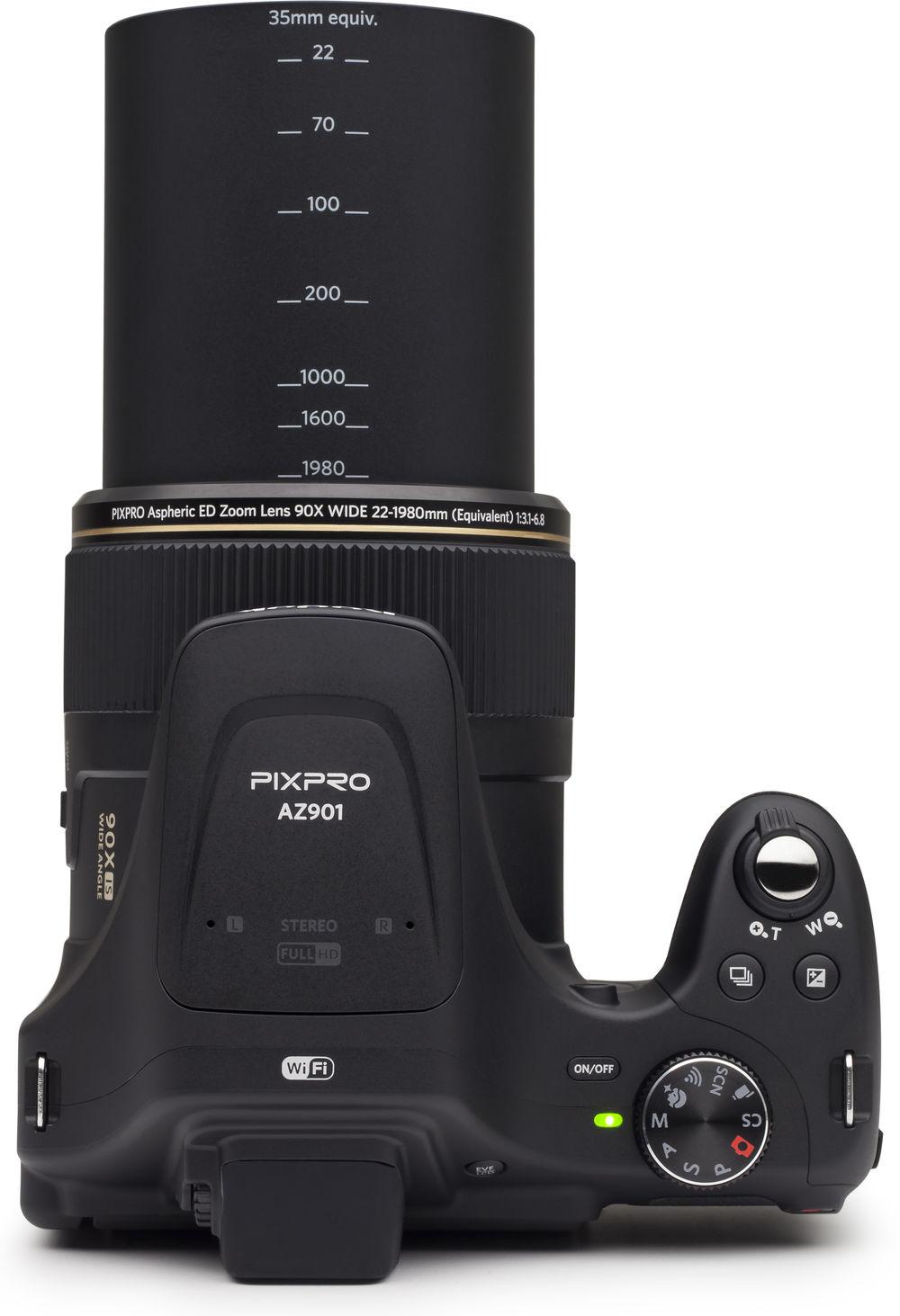 Kodak Pixpro AZ901, вид сверху