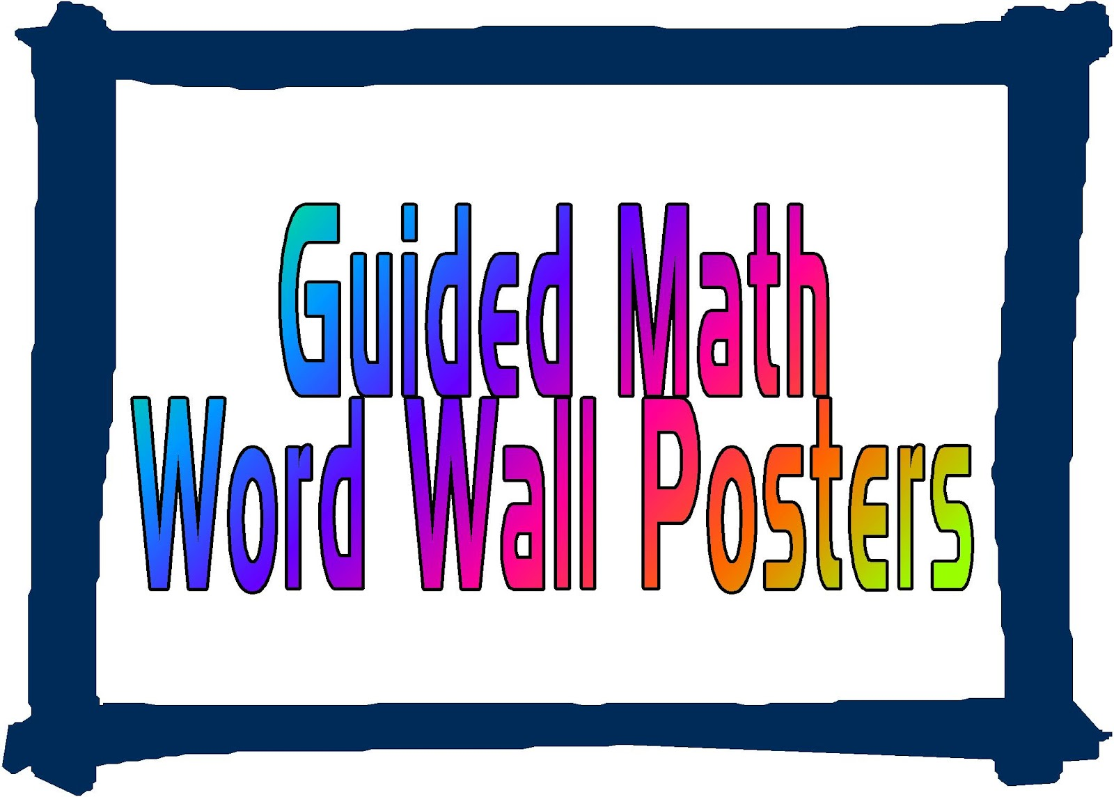 guided math word wall posters