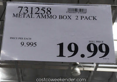 Costco 731258 - Deal for a 2 pack of Heritage Security Products Metal Ammo Cans at Costco