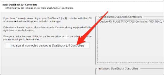 تثبيت برنامج تشغيل يد PS3 على الكمبيوتر