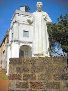 St. Pauls Church in Melaka von den Portugiesen errichtet