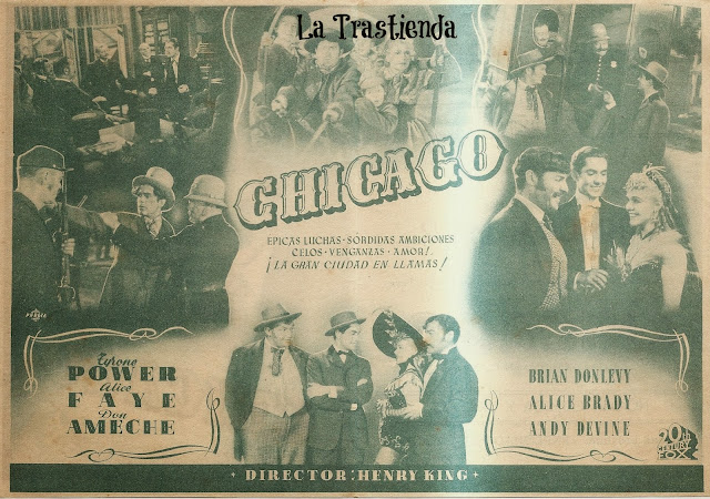 Programa de Cine - Chicago - Tyrone Power - Alice Faye - Don Ameche