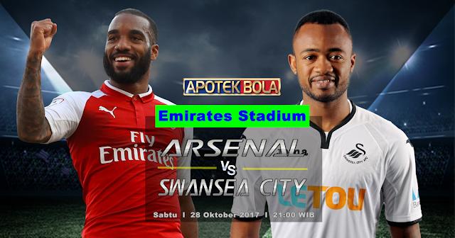 Arsenal vs Swansea City 28 Oktober 2017