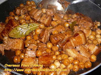 Pork Adobo with Garbanzos - Cooking Procedure
