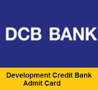 Development Credit Bank Admit Card 2017