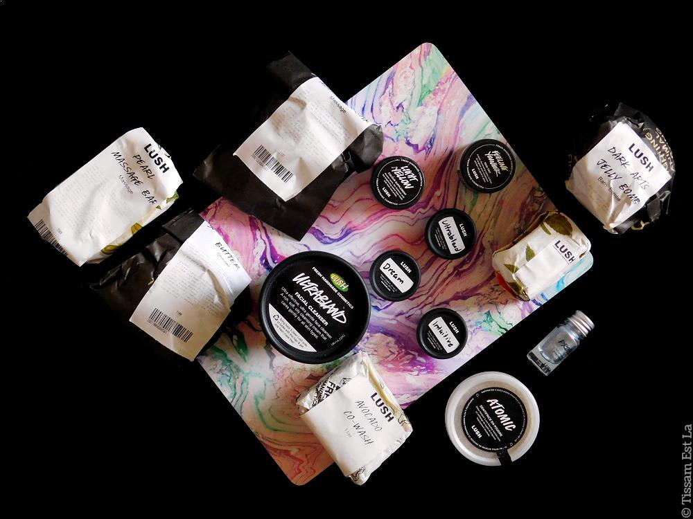 Lush Haul Skincare | Ultrabland, Dreamer, Atomic, Scrubee, Dark Arts Bath Bomb, Feeling Younger, Dark Yellow, Pearl Massage Bar...