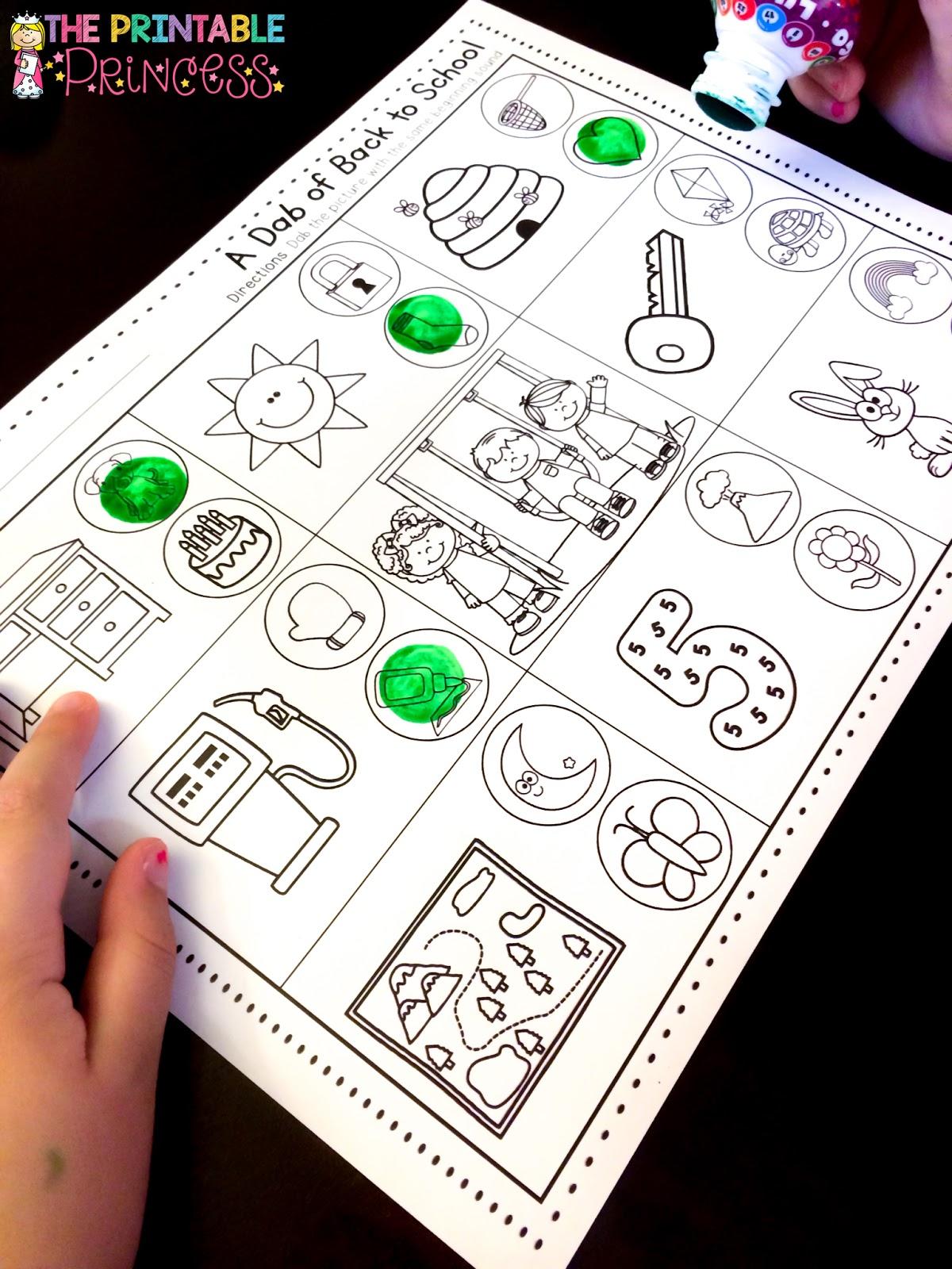 The Printable Princess Using Bingo Dabbers In The