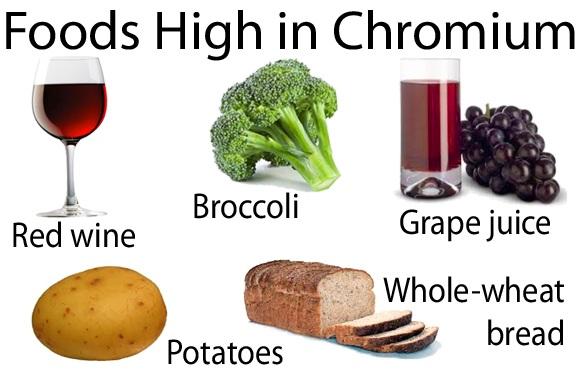 Foods with chromium