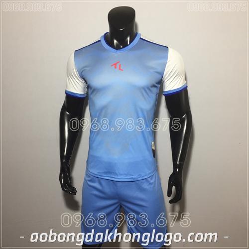 Áo bóng đá không logo TL Xabi  màu xanh