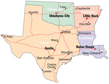 Map Of Texas And Oklahoma With Cities.Map Of Texas Arkansas Oklahoma And Louisiana Business Ideas 2013