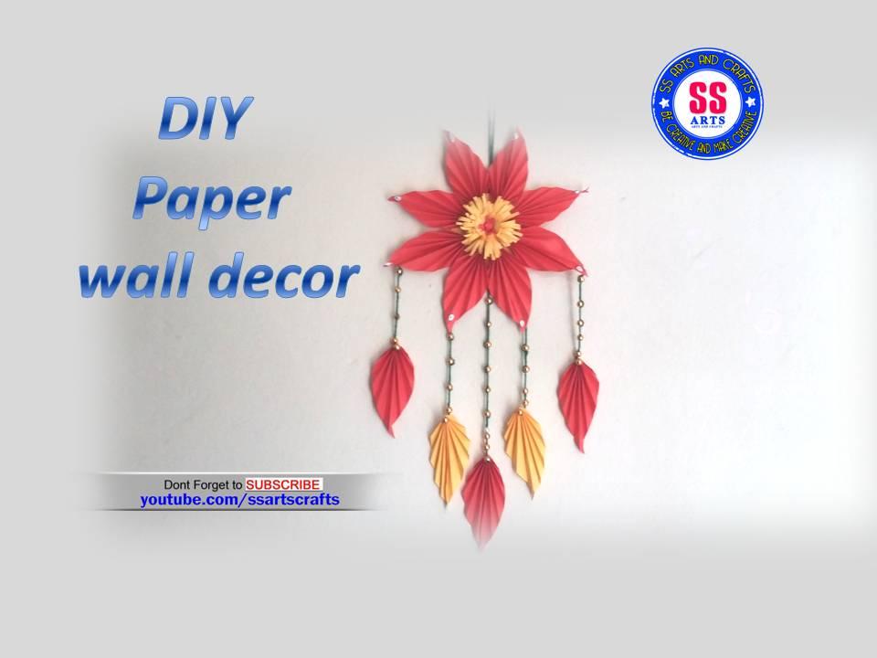 DIY Paper wall hanging   SSARTSCRAFTS