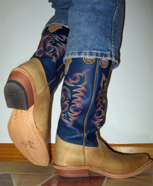 Most Common Cowboy Boot Heel Style Bhd S Musings