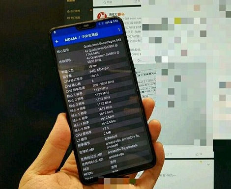 OnePlus 6 with display notch