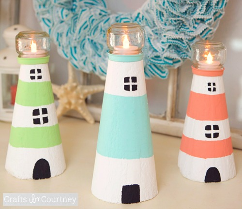 DIY Lighthouses | How to Make a Lighthouse from Cardboard, Foam Cone ...