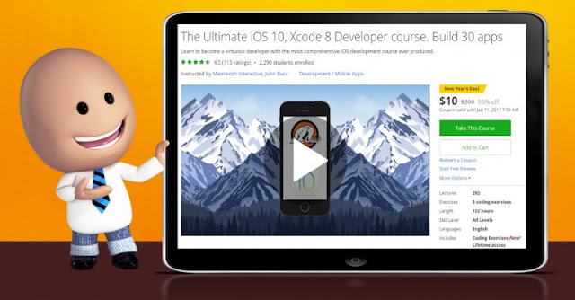 [95% Off] The Ultimate iOS 10, Xcode 8 Developer course. Build 30 apps| Worth 200$