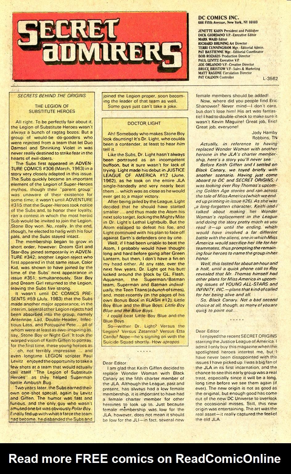Read online Secret Origins (1986) comic -  Issue #37 - 44