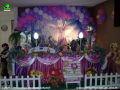 Tema Os Enrolados - mesa decorada infantil para meninas - decoração de mesa para festa de aniversário infantil