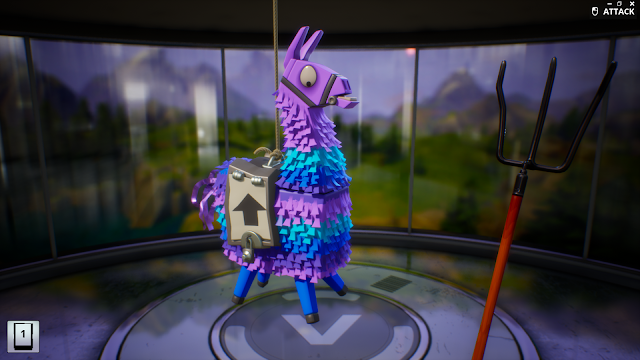 Screenshot of a piñata in Fortnite