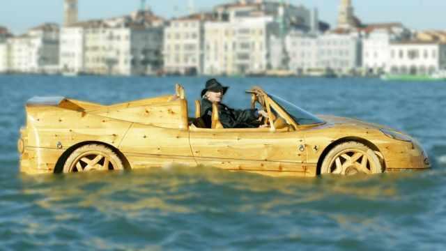 Mobil unik kayu