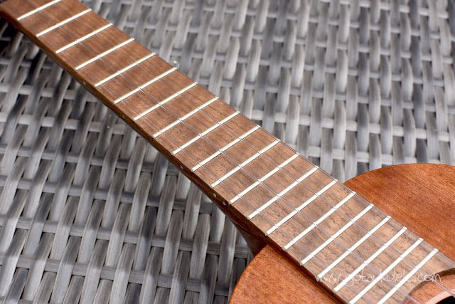 Chris Perkins Tenor Ukulele fingerboard