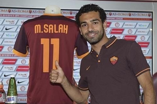 Salah trong màu áo CLB AS Roma