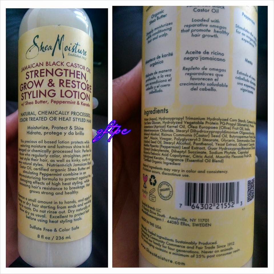SheaMoisture Jamaican Black Castor Oil Styling Lotion