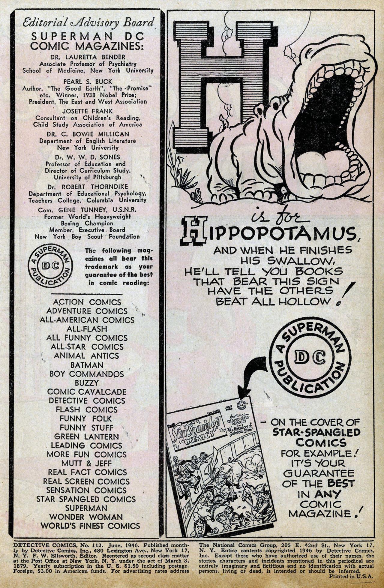 Read online Detective Comics (1937) comic -  Issue #112 - 2