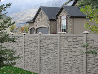 Stone fence design idea