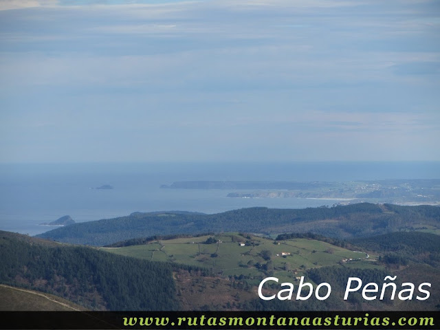 Cabo Peñas desde Aguión