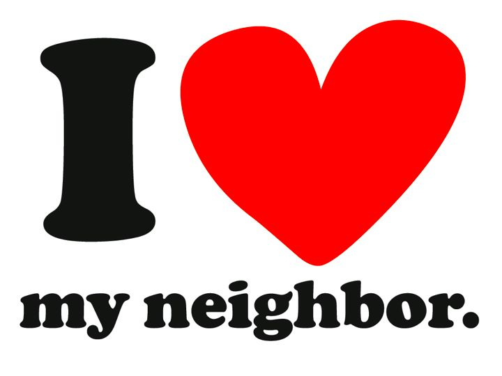 I love my neighbor graphic