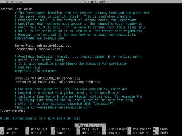 konfigurasi pada imam.net.conf