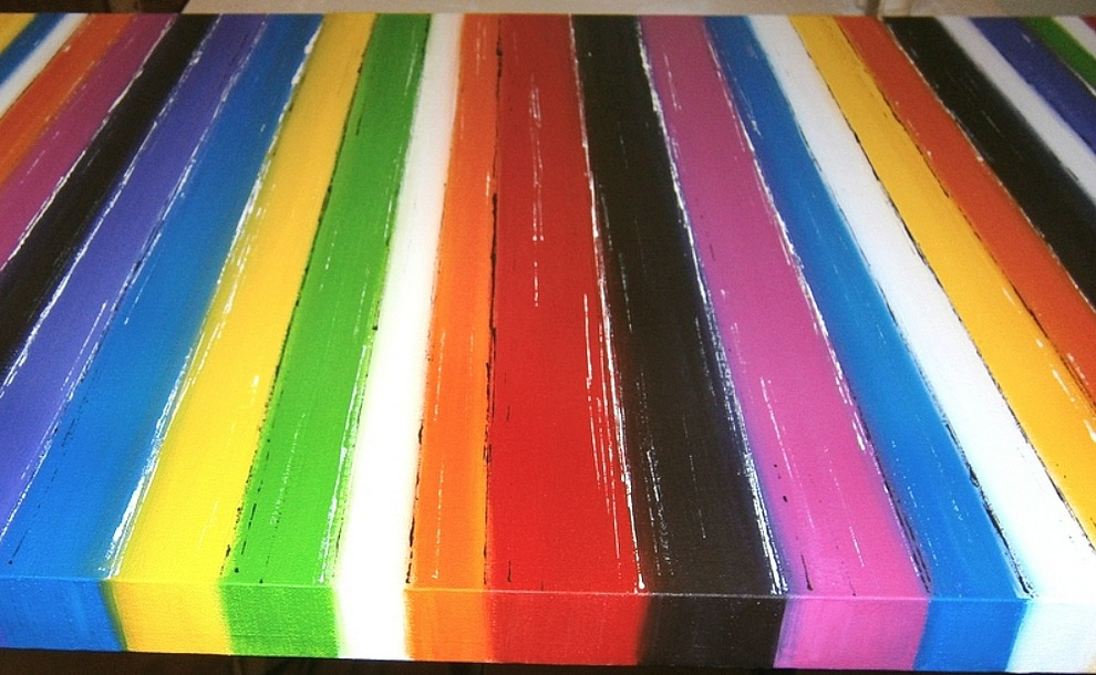 Pop Art Stripes Painting by Catherina Amor