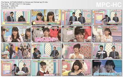 151005 AKB48 no Konya wa Otomari Ep 01 Subtitle Indonesia