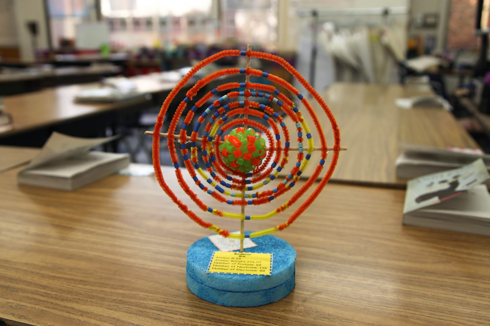 5th Grade Wit And Whimsy 3 Dimensional Atom Projects