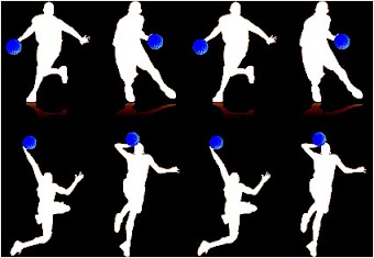 People  sport basketball vector