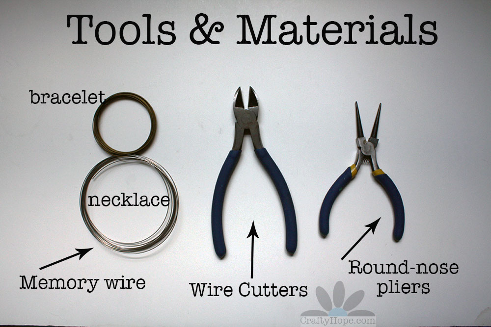 Crafty Hope: Jewelry Making for Beginners Part 10: Using Memory Wire