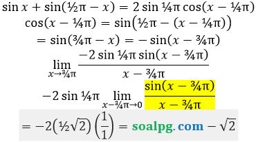 bahas limit sin cos per x
