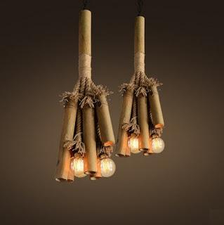 kerajinan tangan lampu dari bambu